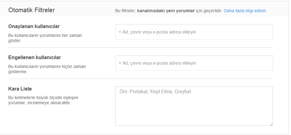 youtube topluluk